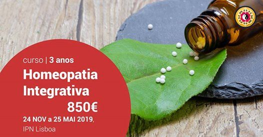 32 Curso de Homeopatia Integrativa 20182019 (Programa Europeu)