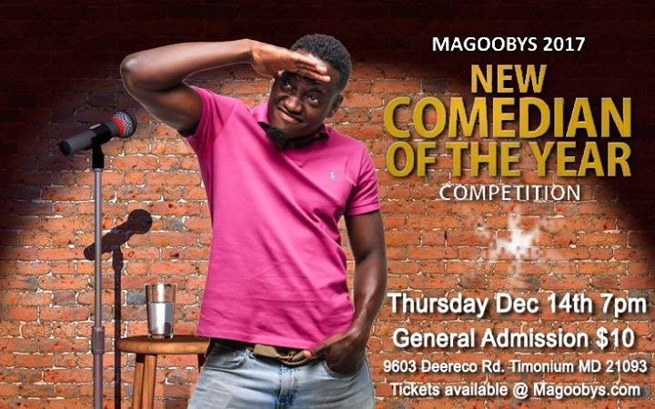 New Comedian Of The Year At Magoobys Joke House Timonium