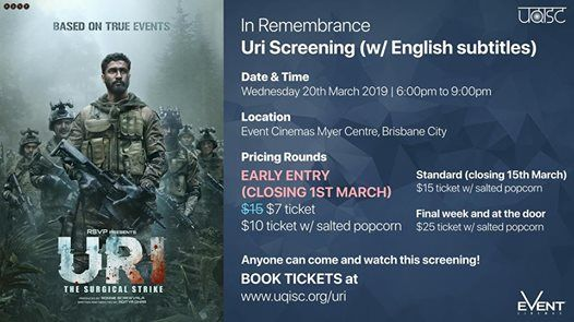 In Remembrance - Uri Screening at Event Cinemas, Brisbane