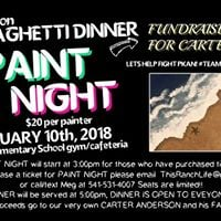 Spaghetti Dinner and Paint Night FUNdraiser for Carter