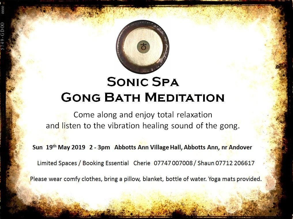 Sonic Spa Gong Bath Meditation - 19th May 2019
