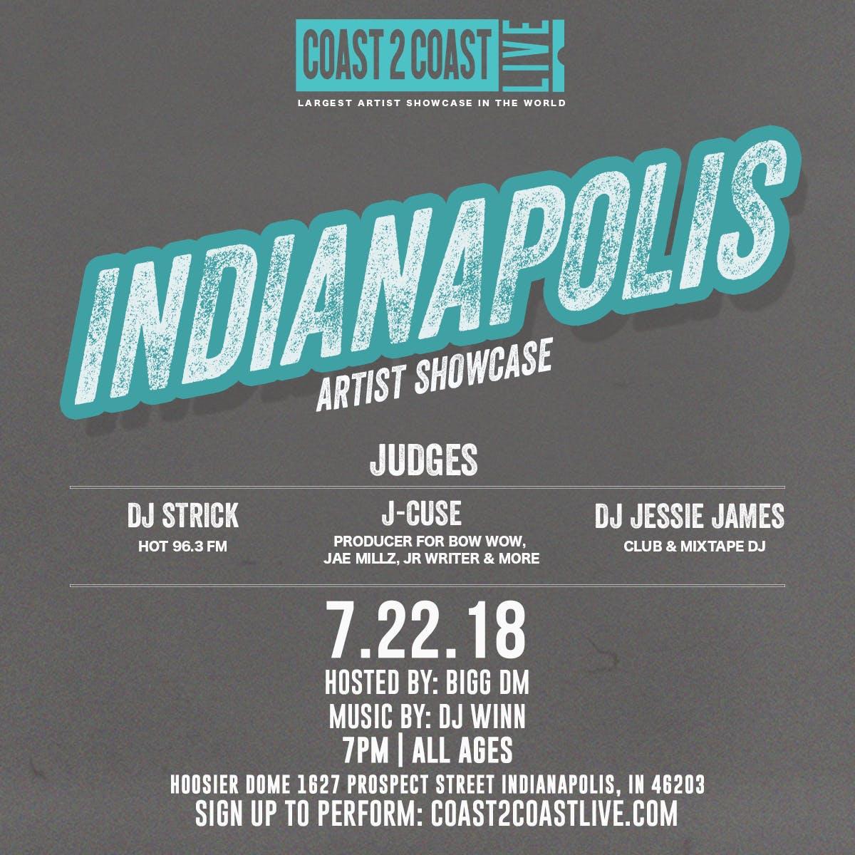 Coast 2 Coast LIVE Artist Showcase  Indianapolis All Ages Edition 72218