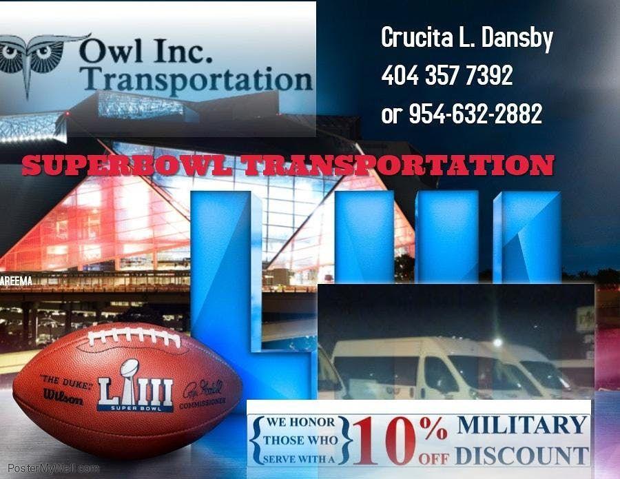ATLANTA SUPERBOWL  53 TRANSPORTATION  OWL INC