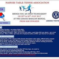 Lohana Open Table Tennis Tournament- Nairobi