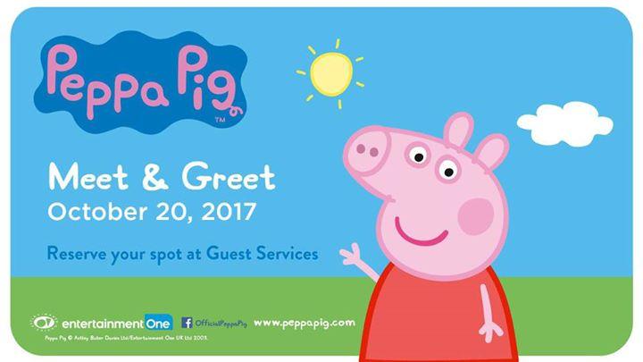 Peppa pig meet greet now full at outlet collection winnipeg event details m4hsunfo