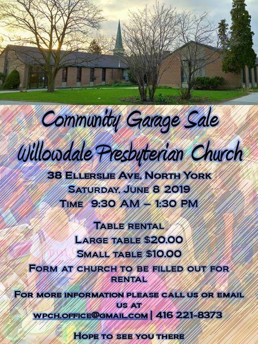 Community Garage Sale Willowdale Presbyterian Church Toronto