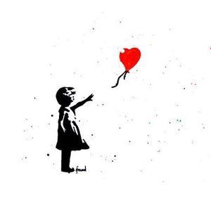 ArtNight Banksy Girl with Balloon am 25042019 in Kln