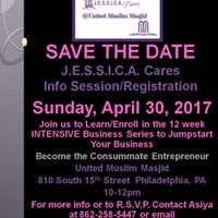 Jessica Cares Youth Entrepreneur Academy Info Session