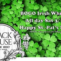 BOGO Irish Whisky on St. Pats Day