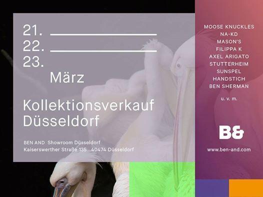 Kollektionsverkauf Dsseldorf BEN AND Showroom