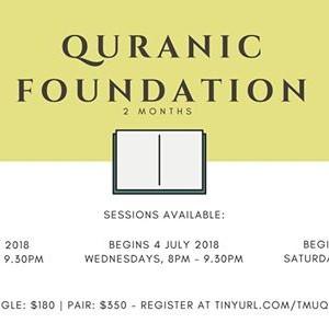 Quranic Foundation 2018 - July Intake