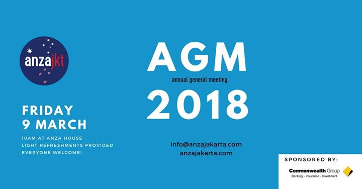 ANZA Annual General Meeting (AGM)