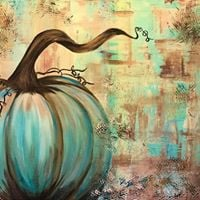 Fall in love with painting when you create Blue Harvest