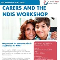 Carers and The NDIS Workshop