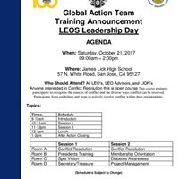 Training Announcement LEOS LIONS Leadership Day