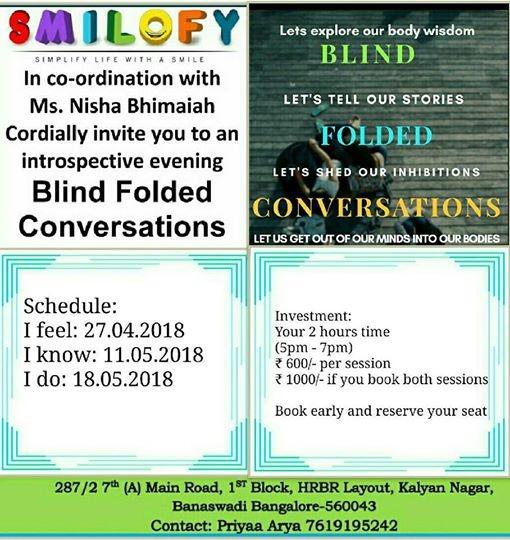 Blind Folded Conversations By Nisha