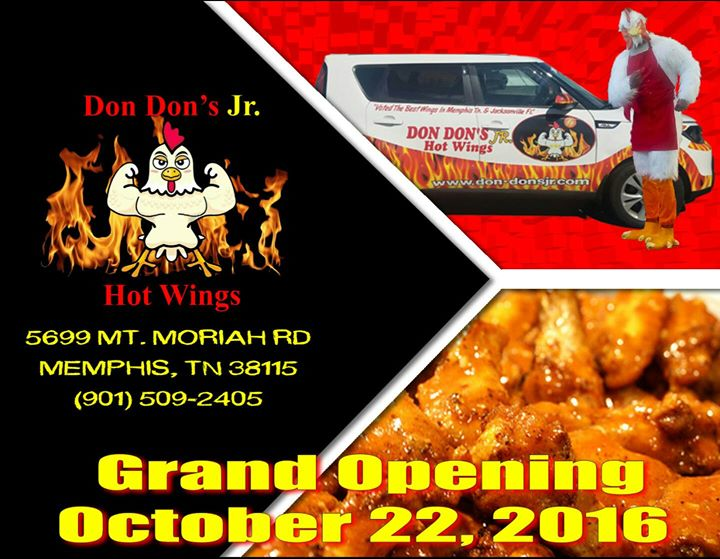 Grand Opening At Don Dons Jr Hotwings Memphis