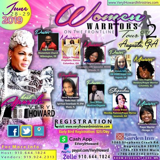 women warriors on the frontline tour at hilton garden inn augusta evans allevents in