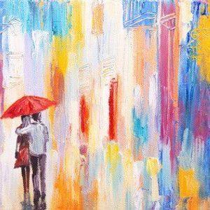 ArtNight Paar im Regen am 28042019 in Freiburg