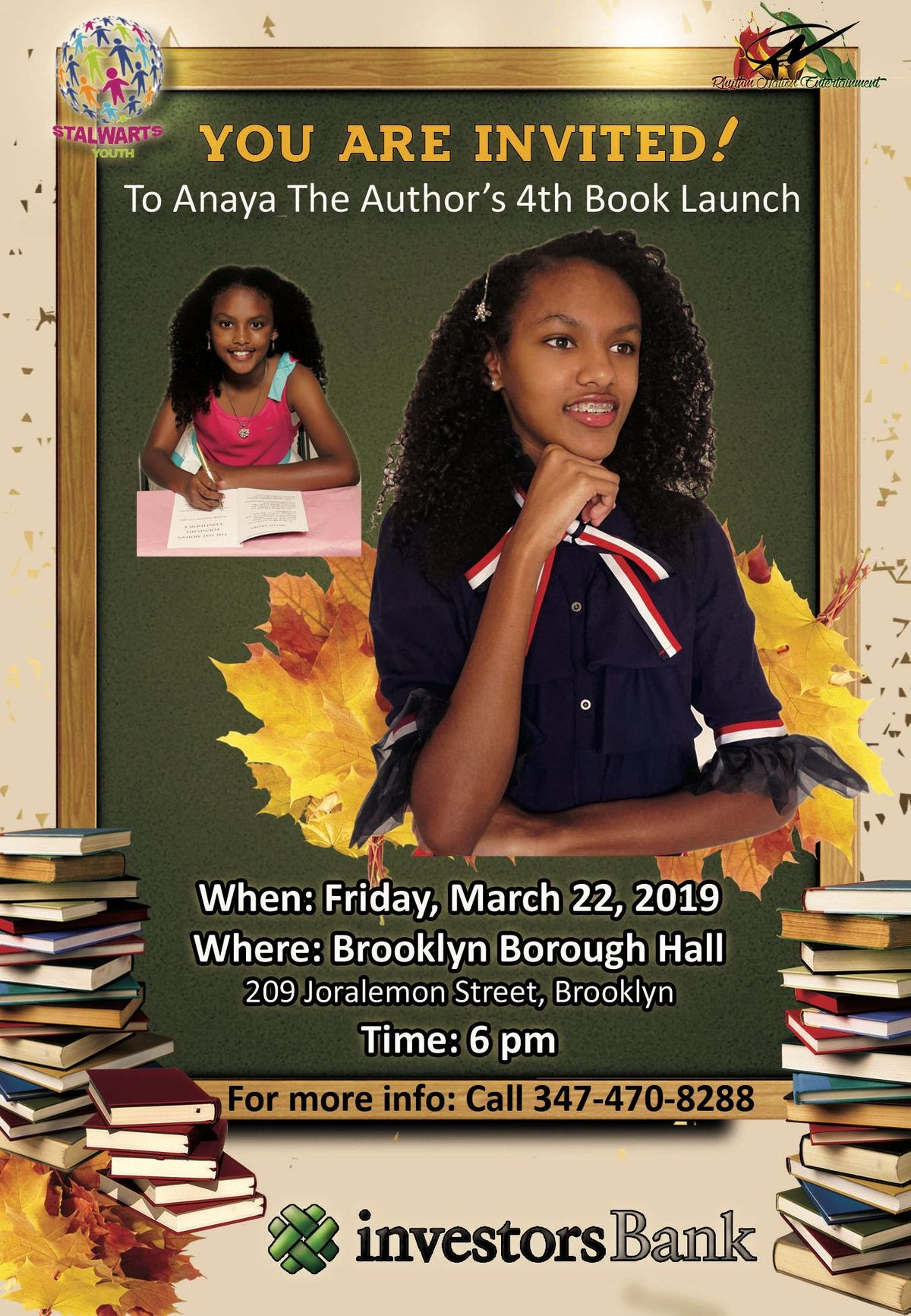 New Yorks Youngest Author 4th Book Launch- Anaya Lee Willabus