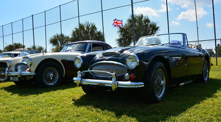 British Motor Club Of The Cape Fear Car Show At USS NORTH CAROLINA - Wilmington car show