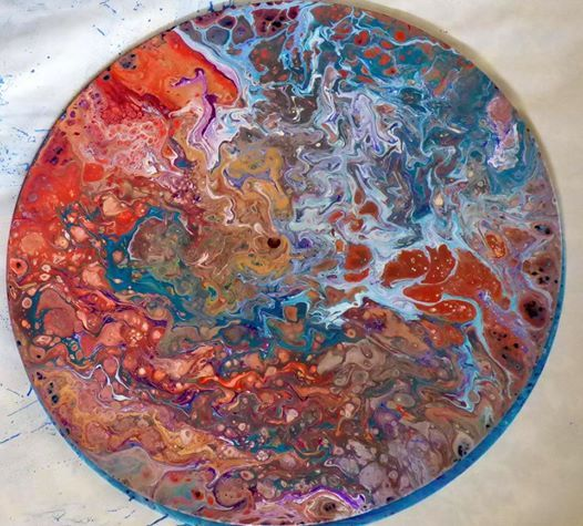 Acrylic Pour Painting Clocks & Coasters at Tyler Park Center
