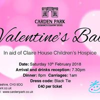 Valentines Ball in aid of Claire House Childrens Hospice