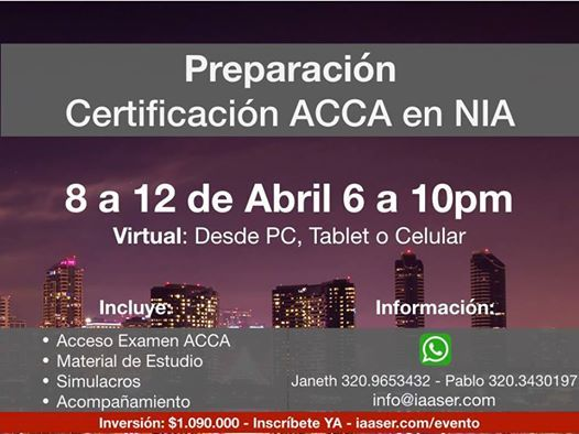 Preparacin Certificacin ACCA en NIA