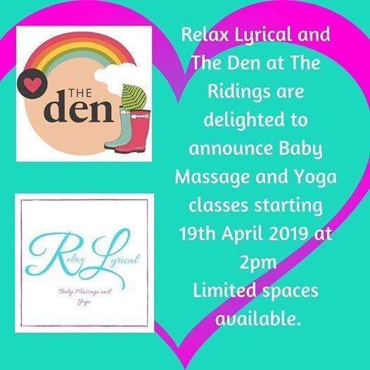 Free Taster Session Relax Lyrical Baby Massage & Yoga  The Den