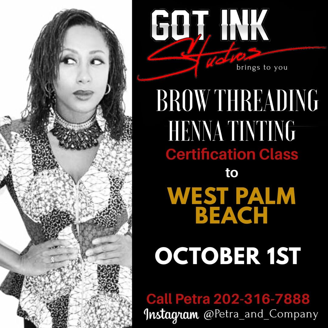 West Palm Beach Eyebrow Threading Henna Brow Tinting Training At