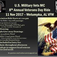 8th Annual Veterans Day Ride