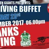 Thanksgiving Dinner 2017 with the Groningen Giants