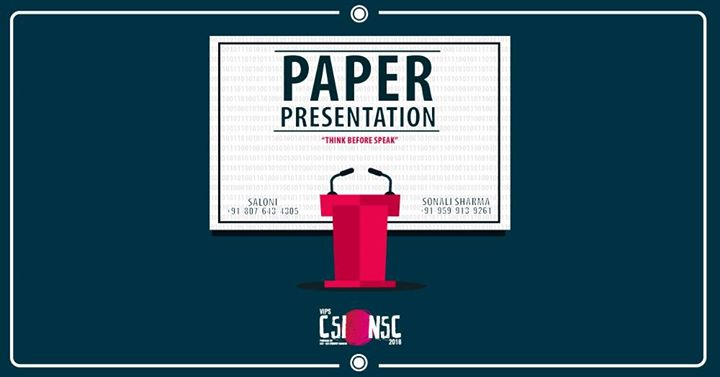 paper presentation national students convention 2018 vips at