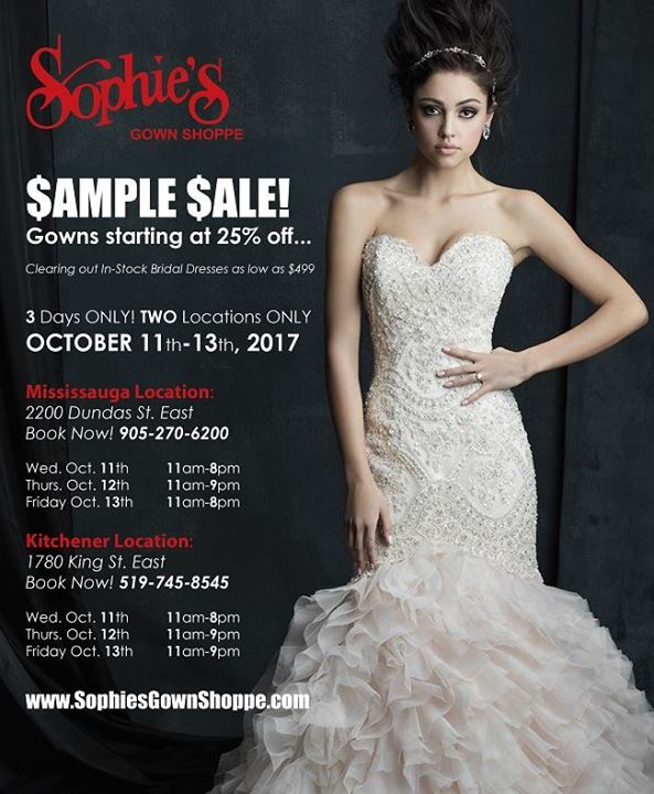 In-stock Wedding Gown Sample Sale