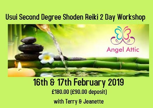 Usui Second Degree Shoden Reiki 2 Day Workshop at Angel Attic