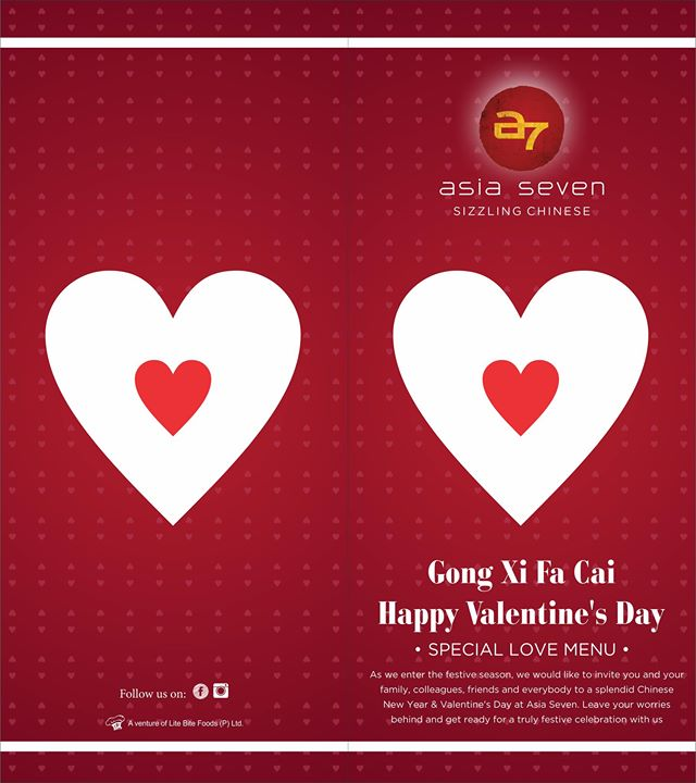 Gong Xi Fa Cai And Valentine Day Special At Asia7 Gurgaon
