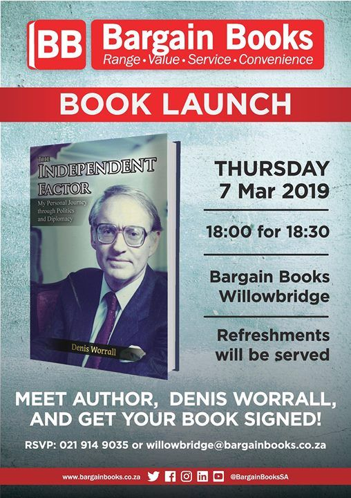 Book signing with Denis Worrall BB Willowbridge