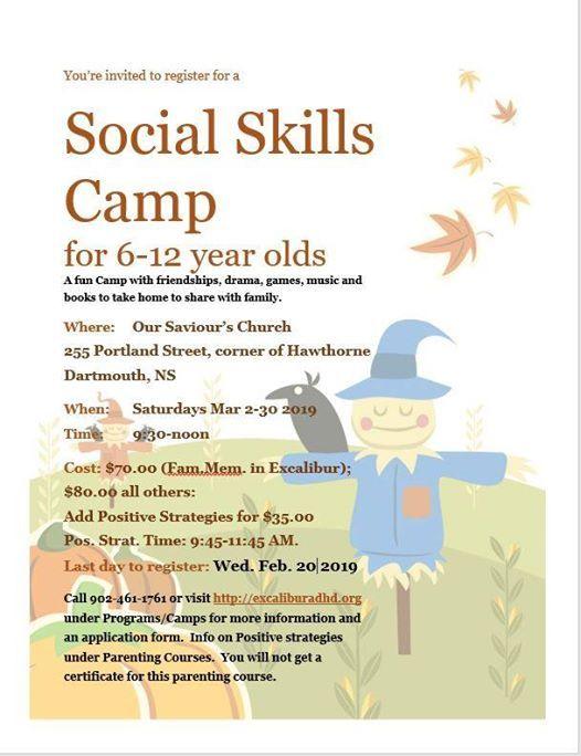 Social Skills Camp Registration
