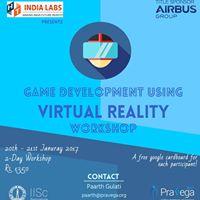 Game Development using Virtual Reality Workshop (Pravega)