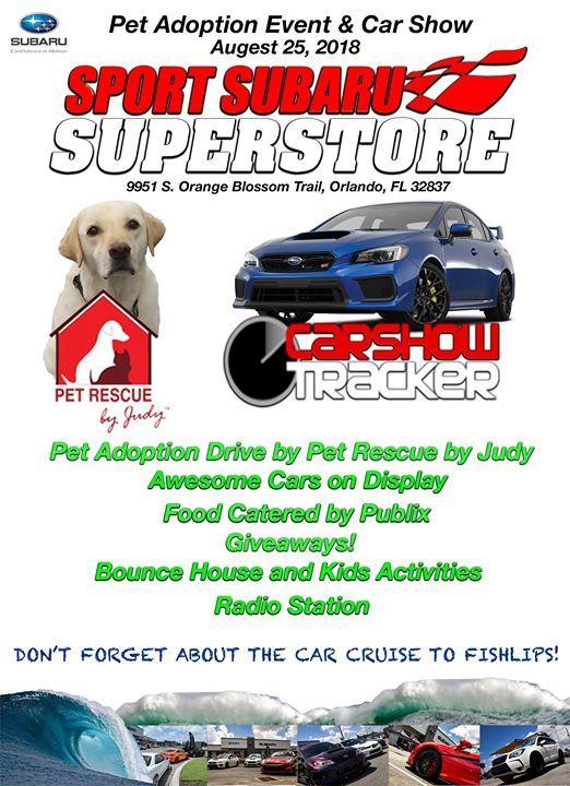 Pet Adoption And Car Show At Sport Subaru South Florida - Car show orlando fl
