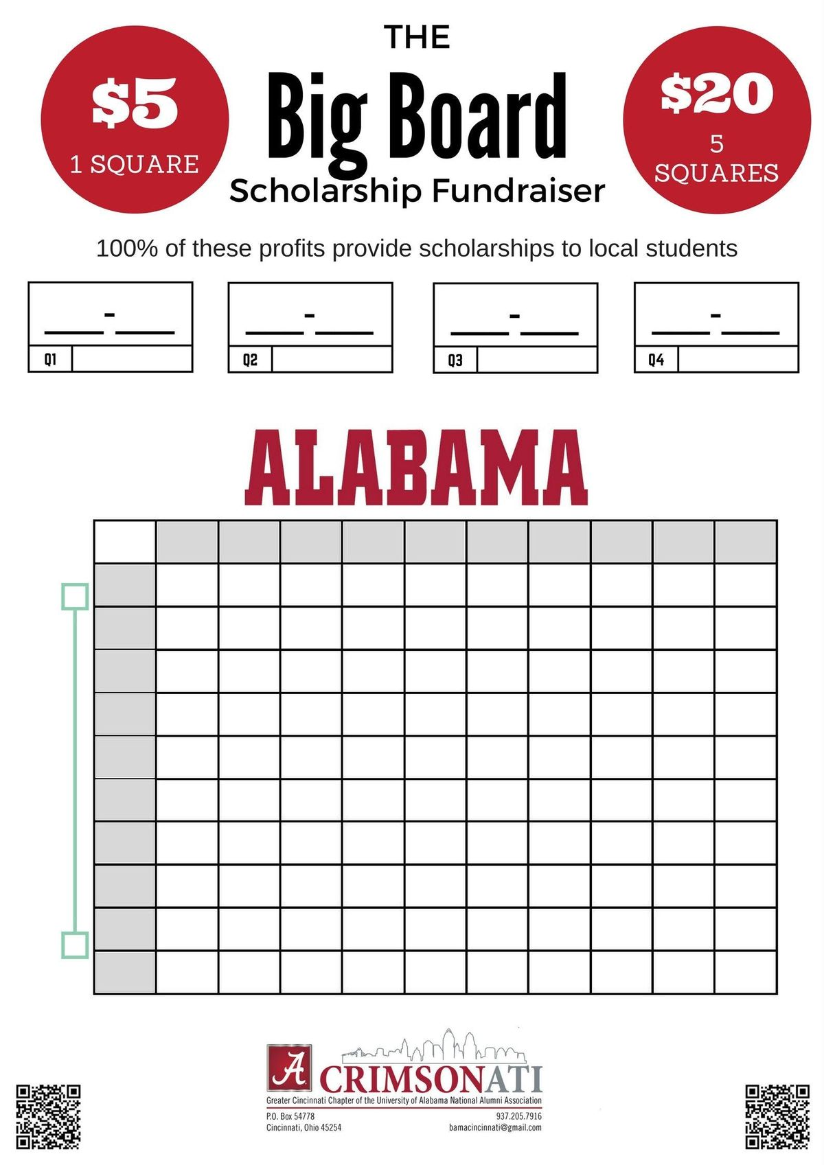 The Big Board Scholarship Game - National Championship Game