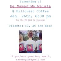 Movie Night at Hillcrest  He Named Me Malala Screening