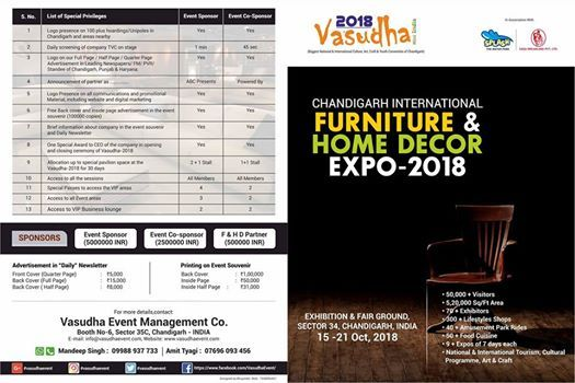 Furniture Home Decor Expo 2018 At Vasudha Event Groundsector 34