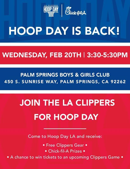 Hoop Day Is Back At Boys Girls Club Of Palm Springs450 S Sunrise