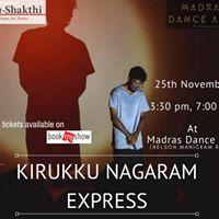 Kirukku Nagaram Express at Madras Dance Arts