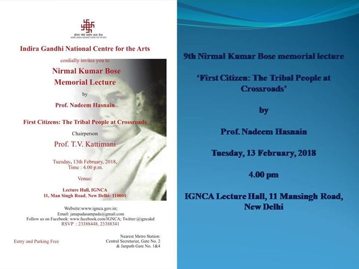 9th Nirmal Kumar Bose memorial lecture