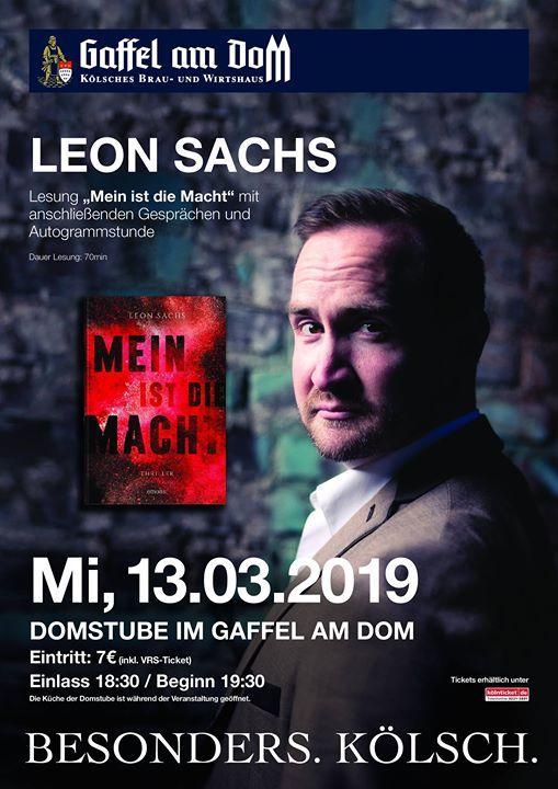Lesung Mein ist die Macht - Leon Sachs