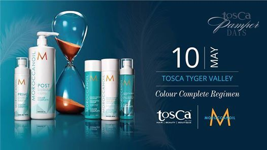 TOSCA Tyger Valley - Pamper Day - Moroccanoil