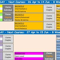 New latin dance courses at LDA - WED and THU
