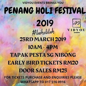 PENANG HOLI FESTIVAL 2019